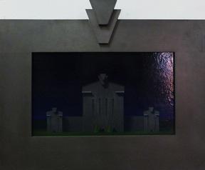 Alex McFarlane, Pa. Keystone State - Symbol, 1980's, Graphite, 17 in. x 24 1/2 in.
