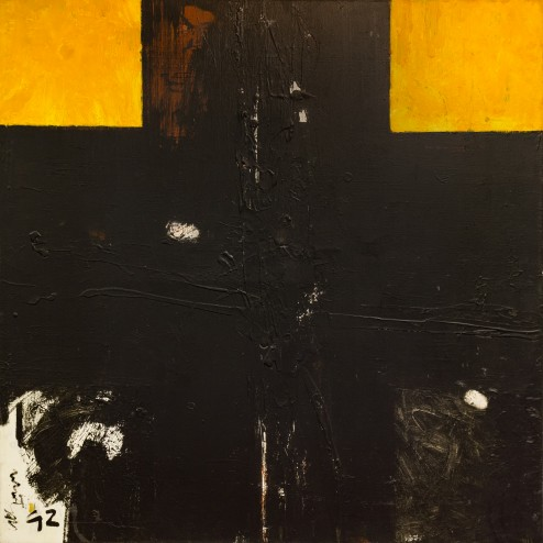 Erik van der Grijn, Untitled, 1992, Oil on Canvas, 59 in. x 59 in.