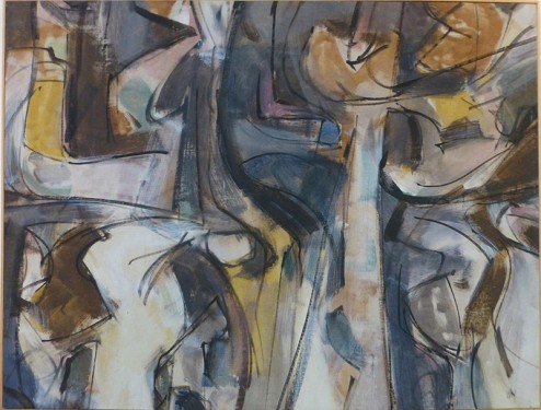 "Joel Le Bow, Untitled, 1956, Oil on Canvas, 33 1/2"" x 44"""