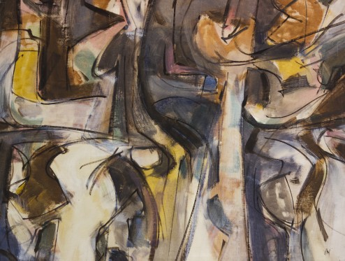 Joel Le Bow, Untitled, 1956, Oil on Canvas, 34x44