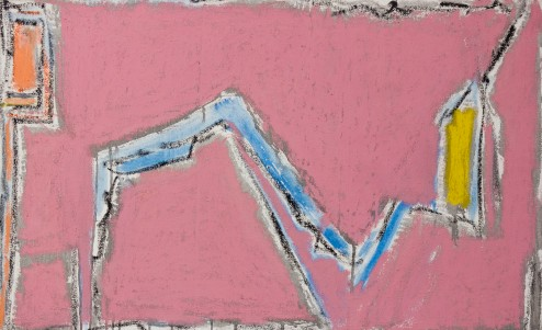 Seymour Boardman, Untitled No. 5, 1992, Oil and Pastel on Canvas, 36x22
