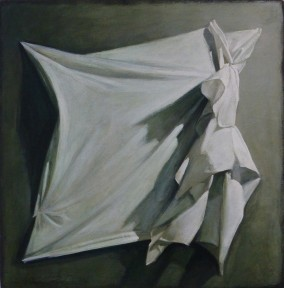 Shozo Nagano, Drape on Wall, Acrylic , 20 1/2 in. x 20 1/2 in.