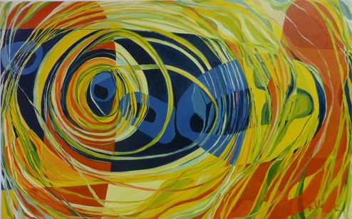 """Stephanie Verme, F#2, Oil on Canvas, 48"""" x 30"""""""
