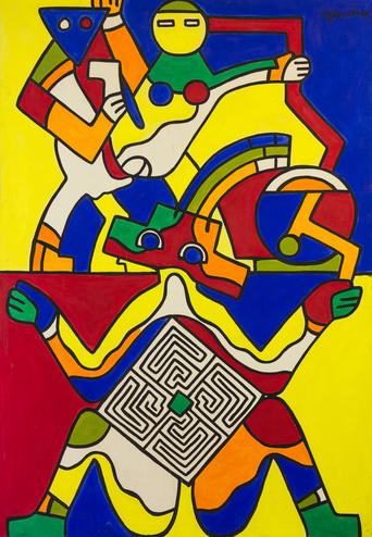 Walter Gaudnek, Untitled, c. 1980s, Acrylic on Canvas, 50x72