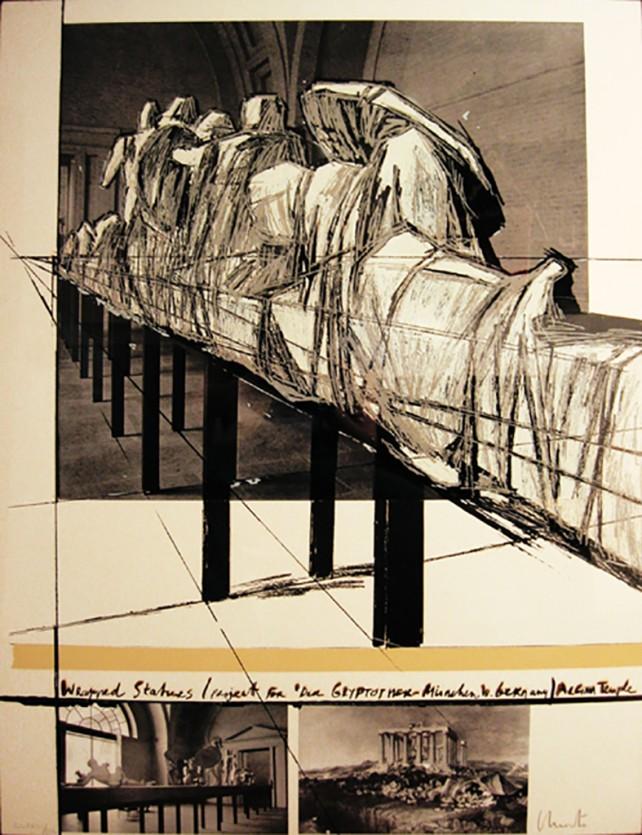 Cristo_WrappedStatues_27x35_1988_S