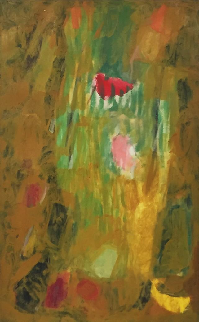 """Ethel Schwabacher, Ode I, 1954, Oil on Canvas, 40"""" x 25"""""""